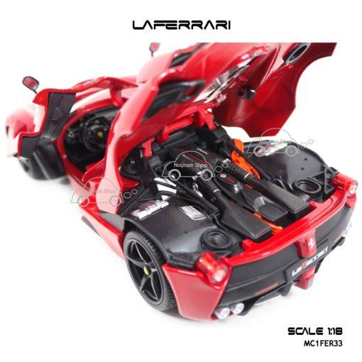 โมเดลเฟอร์รารี่ LAFERRARI สีแดง (Scale 1:18) เครื่องยนต์เหมือนจริง