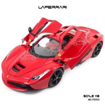 โมเดลเฟอร์รารี่ LAFERRARI สีแดง (Scale 1:18) โมเดลสำเร็จ