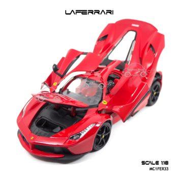 โมเดลเฟอร์รารี่ LAFERRARI สีแดง (Scale 1:18) เปิดได้ครบ