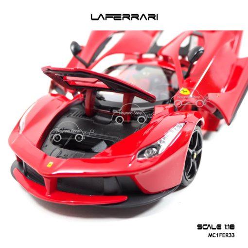 โมเดลเฟอร์รารี่ LAFERRARI สีแดง (Scale 1:18) เปิดฝากระโปรงหน้าได้