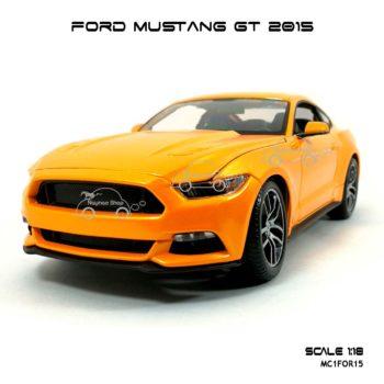 โมเดล ฟอร์ด มัสแตง FORD MUSTANG GT 2015 สีส้ม (1:18)