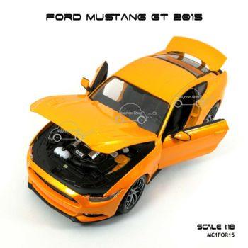 โมเดล ฟอร์ด มัสแตง FORD MUSTANG GT 2015 สีส้ม (1:18) เปิดได้ครบ