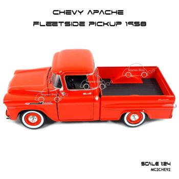 โมเดล รถกระบะ CHEVY APACHE FLEETSIDE PICKUP 1958 สวยงาม