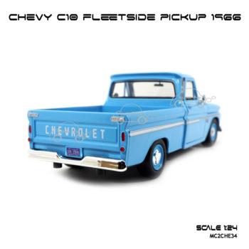 โมเดล รถกระบะ CHEVY C10 FLEETSIDE PICKUP 1966 สีฟ้าอ่อน (1:24)