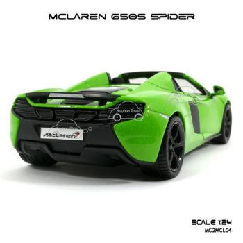 โมเดล MCLAREN 650S SPIDER สีเขียว ท้ายรถสวยๆ