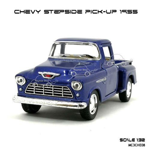 รถโมเดล CHEVY STEPSIDE PICK UP 1955 สีน้ำเงิน (1:32)