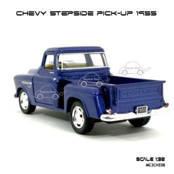 รถโมเดล CHEVY STEPSIDE PICK UP 1955 สีน้ำเงิน (1:32) โมเดลคลาสสิค สวยๆ