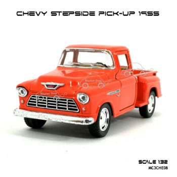 รถโมเดล CHEVY STEPSIDE PICK UP 1955 สีส้ม (1:32) โมเดลคลาสสิค สวยๆ