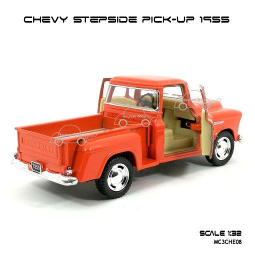 รถโมเดล CHEVY STEPSIDE PICK UP 1955 สีส้ม (1:32) เปิดประตูซ้ายขวาได้