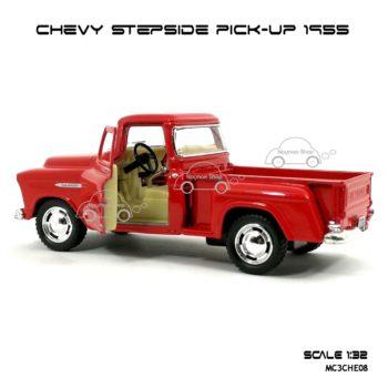 รถโมเดล CHEVY STEPSIDE PICK UP 1955 สีแดง (1:32) เปิดประตูได้
