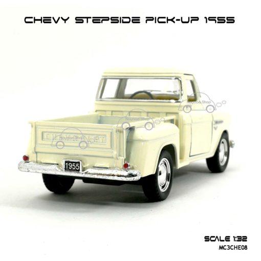 รถโมเดล CHEVY STEPSIDE PICK UP 1955 สีขาวครีม (1:32) ท้ายกระบะ สวยๆ