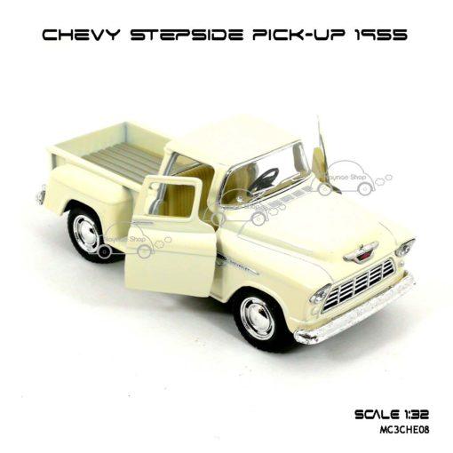 รถโมเดล CHEVY STEPSIDE PICK UP 1955 สีขาวครีม (1:32) รถเหล็ก ราคาถูก