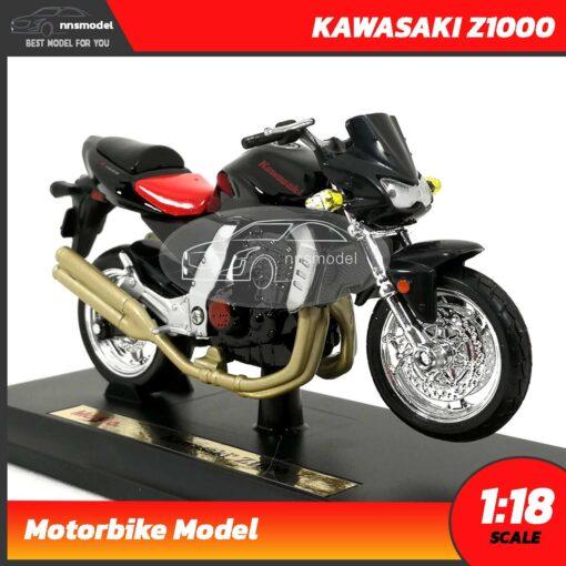 โมเดลบิ๊กไบค์ KAWASAKI Z1000 (Scale 1:18) ประกอบสำเร็จ พร้อมฐานตั้งโชว์