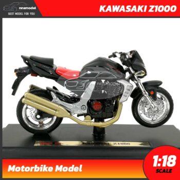 โมเดลบิ๊กไบค์ KAWASAKI Z1000 (Scale 1:18) โมเดลจำลองเหมือนจริง Welly