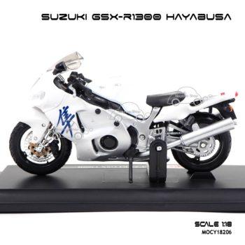 โมเดลบิ๊กไบค์ SUZUKI GSX-R1300 HAYABUSA (1:18) สีขาว