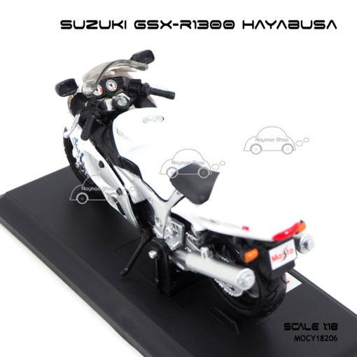 โมเดลบิ๊กไบค์ SUZUKI GSX-R1300 HAYABUSA (1:18) สีขาว รายละเอียดเหมือนจริง