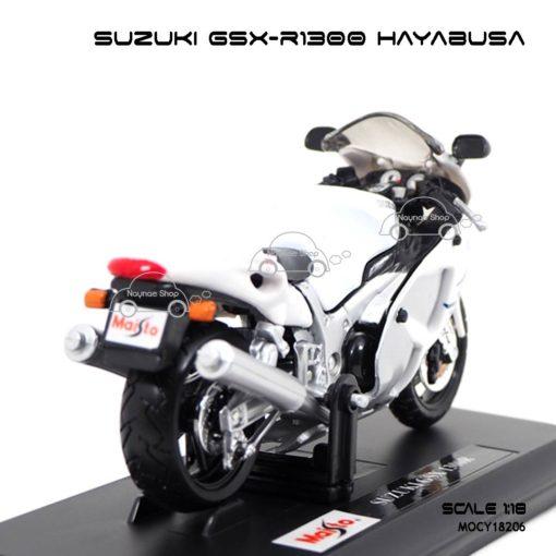 โมเดลบิ๊กไบค์ SUZUKI GSX-R1300 HAYABUSA (1:18) สีขาว พร้อมวางตั้งโชว์