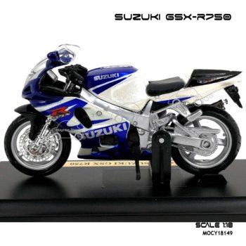 โมเดลบิ๊กไบค์ SUZUKI GSX R750 (1:18) พร้อมฐาน