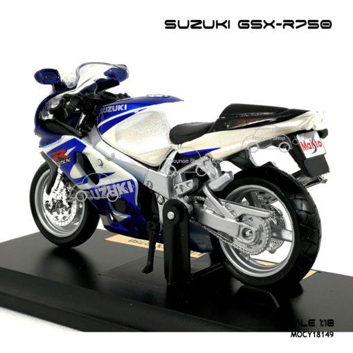 โมเดลบิ๊กไบค์ SUZUKI GSX R750 (1:18) โมเดลสำเร็จ
