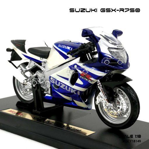 โมเดลบิ๊กไบค์ SUZUKI GSX R750 (1:18) โมเดลลิขสิทธิแท้