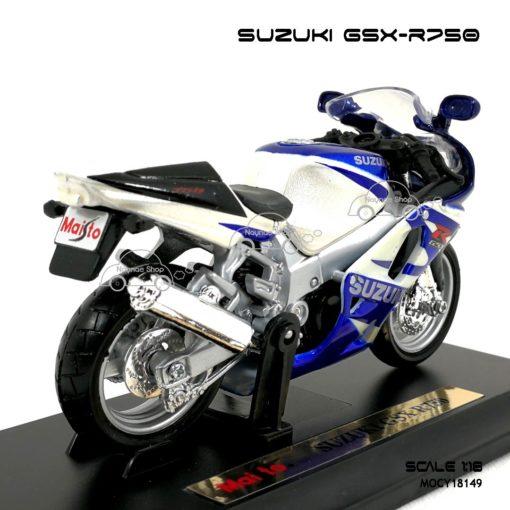 โมเดลบิ๊กไบค์ SUZUKI GSX R750 (1:18) ผลิตโดยแบรนด์ Maisto