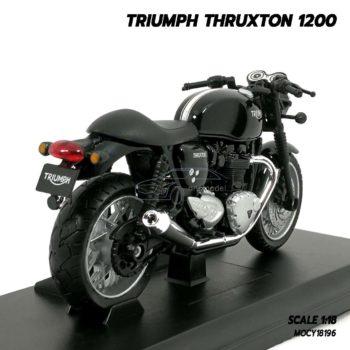 โมเดลมอเตอร์ไซด์ Triumph Thruxton 1200 (Scale 1/18) ประกอบสำเร็จ พร้อมฐานตั้งโชว์