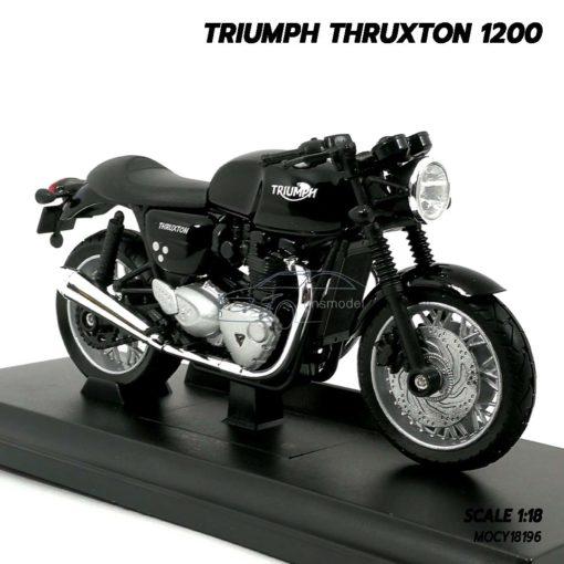 โมเดลมอเตอร์ไซด์ Triumph Thruxton 1200 (Scale 1/18) โมเดลคลาสสิค จำลองเหมือนจริง