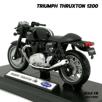 โมเดลมอเตอร์ไซด์ Triumph Thruxton 1200 (Scale 1/18) โมเดลเหมือนจริงผลิตโดยแบรนด์ Welly