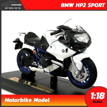 โมเดลมอเตอร์ไซด์ BMW HP2 SPORT (Scale 1:18) โมเดลบิ๊กไบค์ พร้อมตั้งโชว์