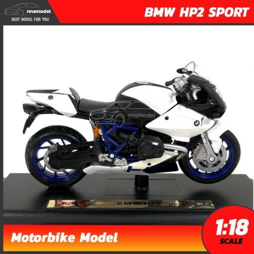 โมเดลมอเตอร์ไซด์ BMW HP2 SPORT (Scale 1:18) โมเดลบิ๊กไบค์ ของสะสม Maisto