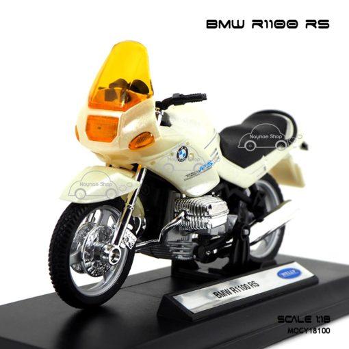 โมเดลมอเตอร์ไซด์ BMW R1100 RS สีขาวมุก