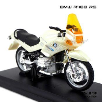 โมเดลมอเตอร์ไซด์ BMW R1100 RS สีขาวมุก (1:18) โมเดลประกอบสำเร็จ
