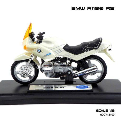 โมเดลมอเตอร์ไซด์ BMW R1100 RS สีขาวมุก (1:18) ผลิตโดย welly