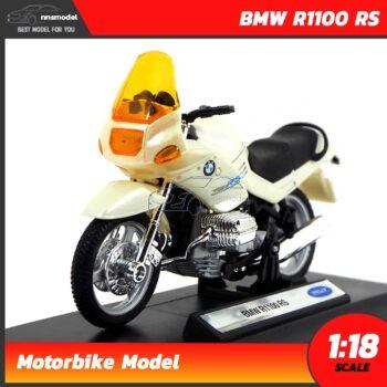 โมเดลมอเตอร์ไซด์ BMW R1100 RS สีขาวมุก (Scale 1:18)