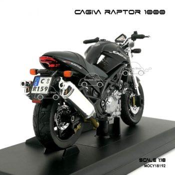 โมเดลมอเตอร์ไซด์ CAGIVA RAPTOR 1000 สีดำ (1:18)