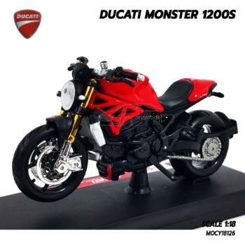 โมเดลมอเตอร์ไซด์ DUCATI MONSTER 1200S สีแดงดำ (1:18)