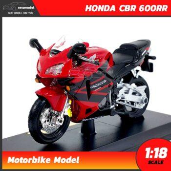 โมเดลมอเตอร์ไซด์ HONDA CBR 600RR สีแดงดำ (Scale 1:18)