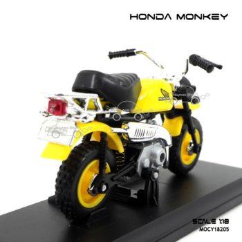 โมเดลมอเตอร์ไซด์ HONDA MONKEY สีเหลืองดำ (1:18)