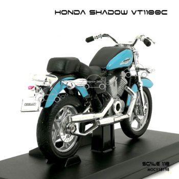 โมเดลมอเตอร์ไซด์ HONDA SHADOW VT1100C (1:18) พร้อมฐาน