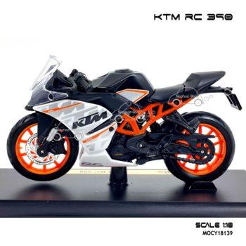โมเดลมอเตอร์ไซด์ KTM RC 390 (1:18)