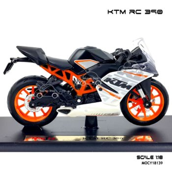 โมเดลมอเตอร์ไซด์ KTM RC 390 (1:18) โมเดลสำเร็จ