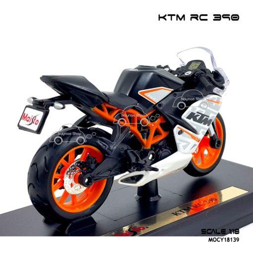 โมเดลมอเตอร์ไซด์ KTM RC 390 (1:18) พร้อมฐานวางตั้งโชว์