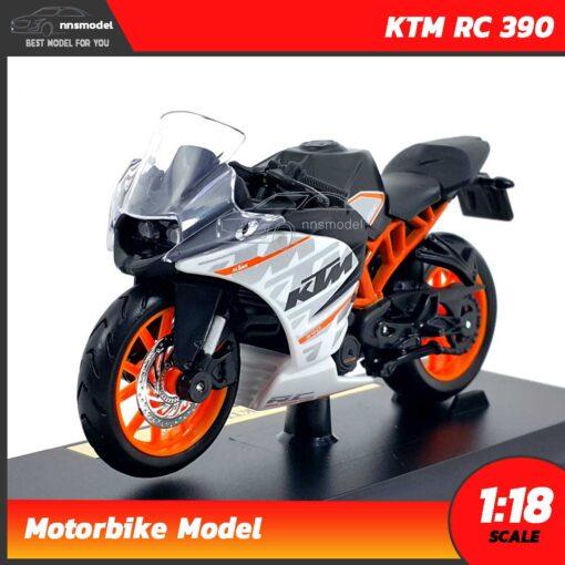 โมเดลมอเตอร์ไซด์ KTM RC 390 (Scale 1:18)