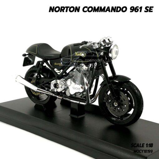 โมเดลมอเตอร์ไซด์ NORTON COMMANDO 961 SE (Scale 1:18) โมเดลประกอบสำเร็จ