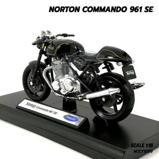 โมเดลมอเตอร์ไซด์ NORTON COMMANDO 961 SE (Scale 1:18) โมเดลประกอบสำเร็จ พร้อมตั้งโชว์