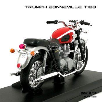 โมเดลมอเตอร์ไซด์ TRIUMPH BONNEVILLE T100 สีแดงบรอนด์