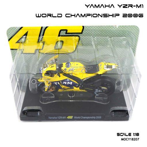 โมเดลมอเตอร์ไซด์ YAMAHA YZR-M1 World Championship 2006 (1:18) จำลองเหมือนจริง