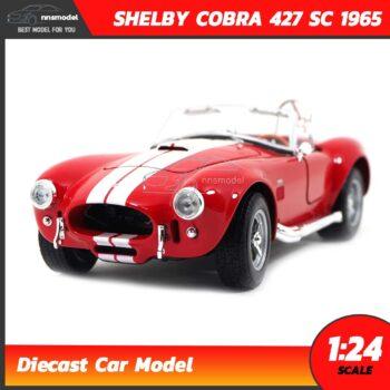 โมเดลรถคลาสสิค SHELBY COBRA 427 SC 1965 สีแดง (Scale 1:24)