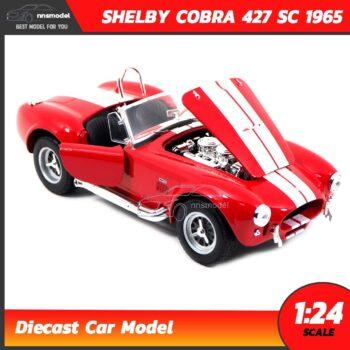 โมเดลรถคลาสสิค SHELBY COBRA 427 SC 1965 สีแดง (Scale 1:24) เปิดฝากระโปรงหน้ารถได้