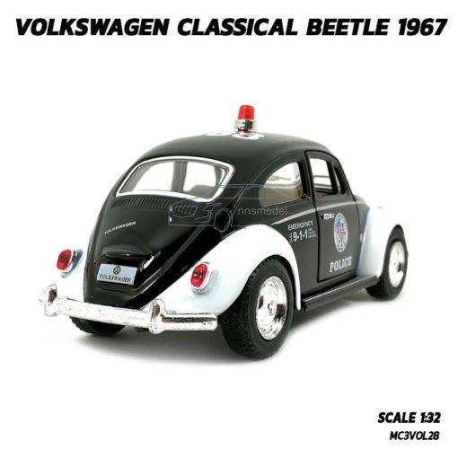 โมเดลรถตำรวจ รถเต่า Volkswagen Beetle 1967 (Scale 1:32) รถเหล็ก มีลานวิ่งได้